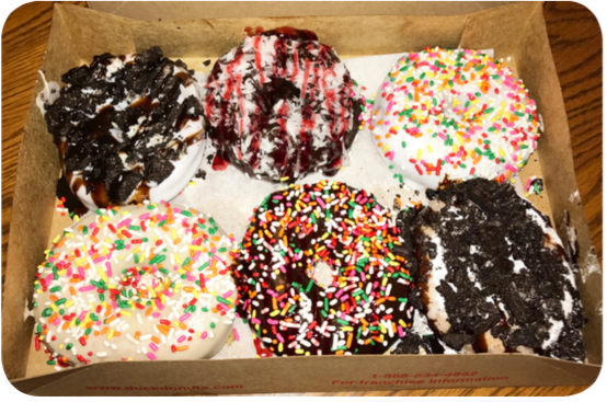 At Duck Donuts, customers create their own donuts, with a variety of icings, toppings and drizzles to use. Photo credit by Alyssa Young