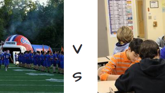 Athletics or academics?
