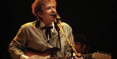 Songwriter Bob Dylan, Nobel Peace Prize recipient