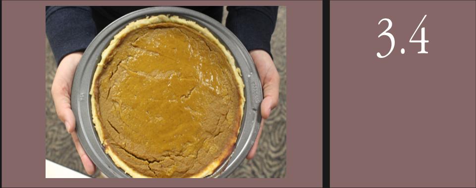 Pumpkin pie, vegan. Photo credits by Sami Level and Sami Welsh