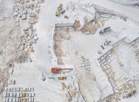 Aerial Photography of Carrara Marble Mines by Bernhard Lang