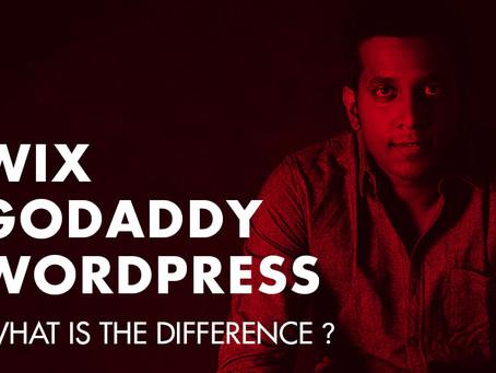 Wix or GoDaddy or Wordpress