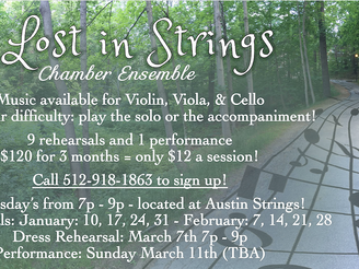 Lost in Strings is Back in 2018!