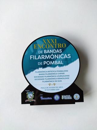 Impressão UV em troféu de acrilico