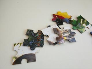 Corte a laser de puzzle