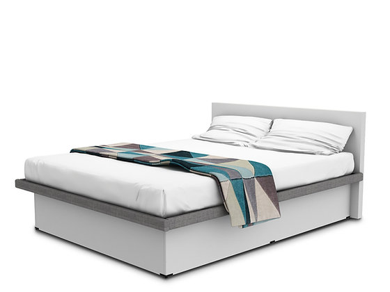 Coffer Bed Blanco