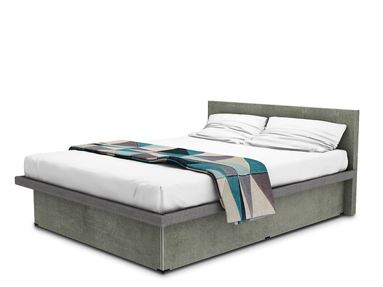Coffer Bed Concreto Touch