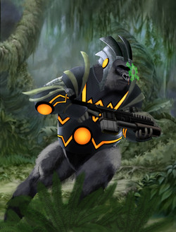 space gorilla concept