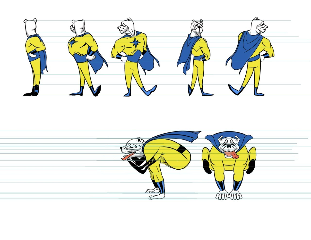 Captain Galactic turnaround in color