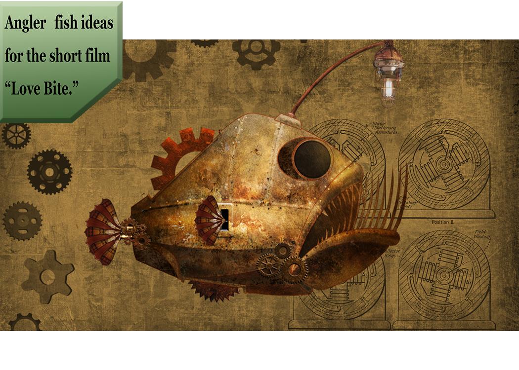 steampunk angler fish