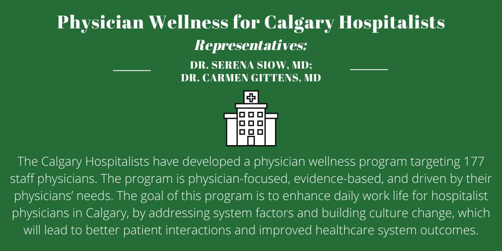 Physician Wellness for Calgary Hospitalists