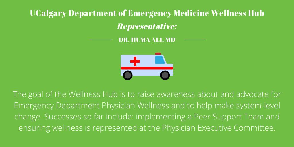 Department of Emergency Medicine Wellness Hub, University of Calgary