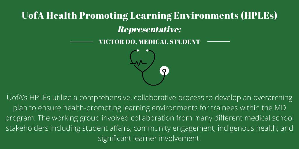 Health Promoting Learning Environments (HPLEs), University of Alberta