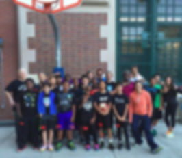 Group of NIA Basketball Students