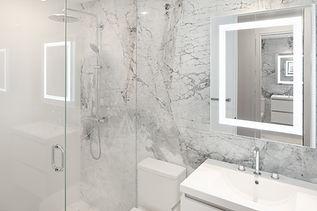 Pied-à-terre Yorkville condo bathroom renovation