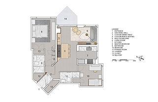 Pied-à-terre Yorkville condo renovation floor plan