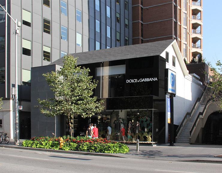 Dolce & Gabbana Toronto Flagship Store facade