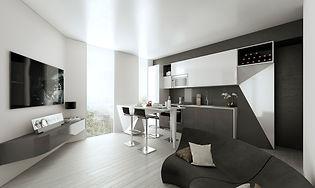 Origami Lofts condominium kitchen design - toronto, ontario