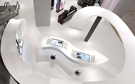 Coty Fume Scent Lounge twisting canopy in Yorkdale Shopping Centre - Toronto, Ontario, Canada