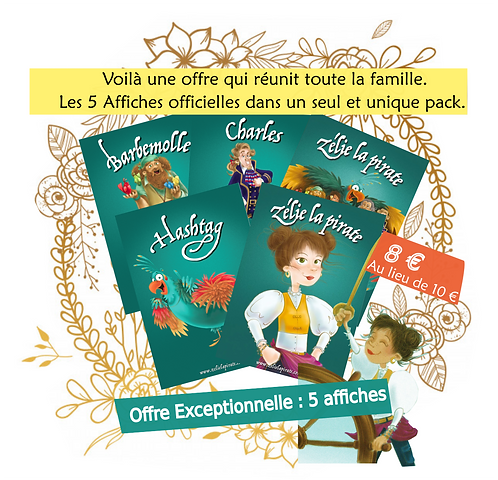 Pack  5 affiches : Offre promotionnelle