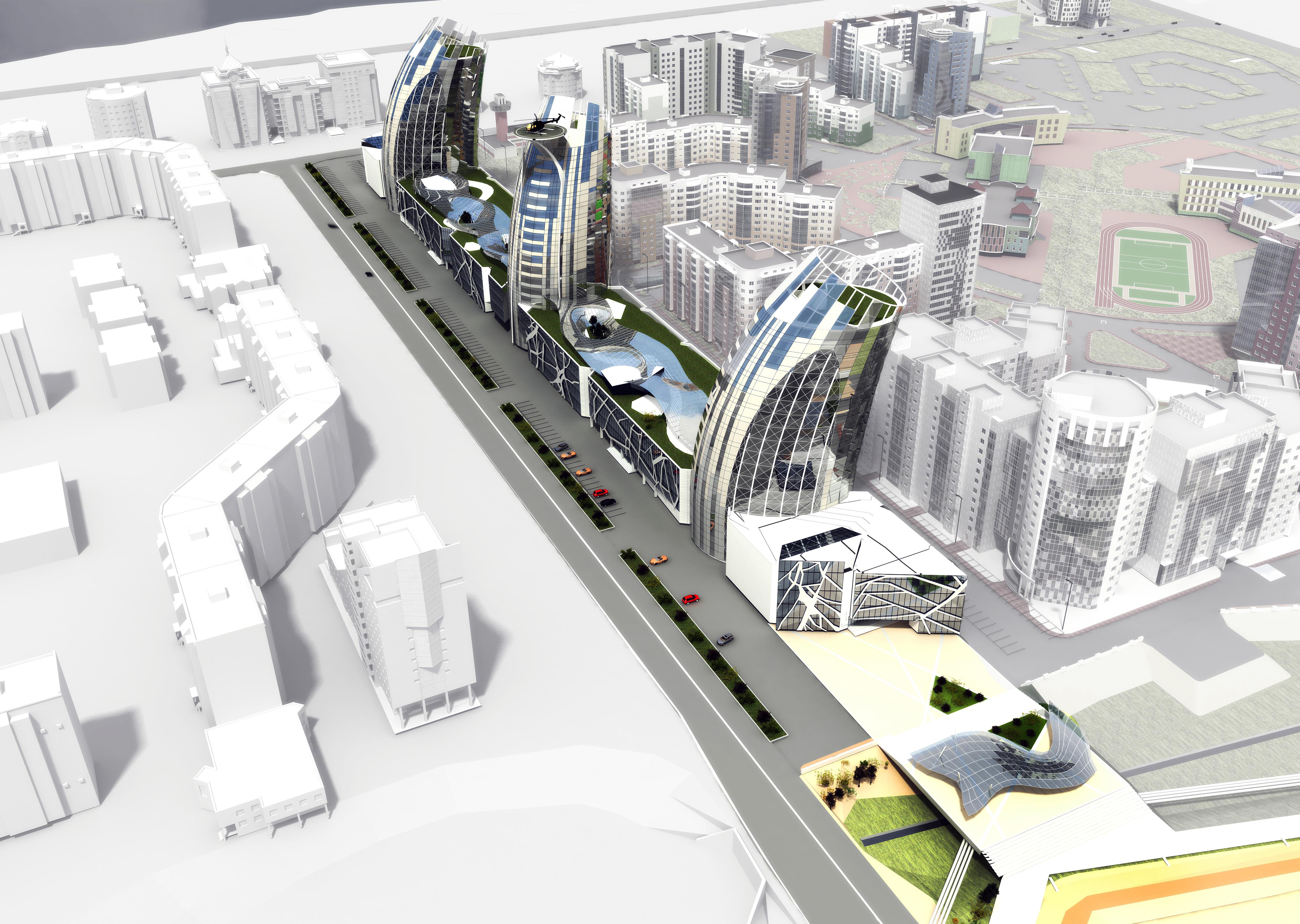 проект офис-центра / 203-микрорайон