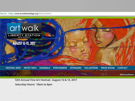 WOW! Our painting was used on the Art Festival website!