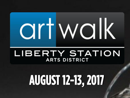 We at Art Festival @ Liberty Station in San Diego (August 12)