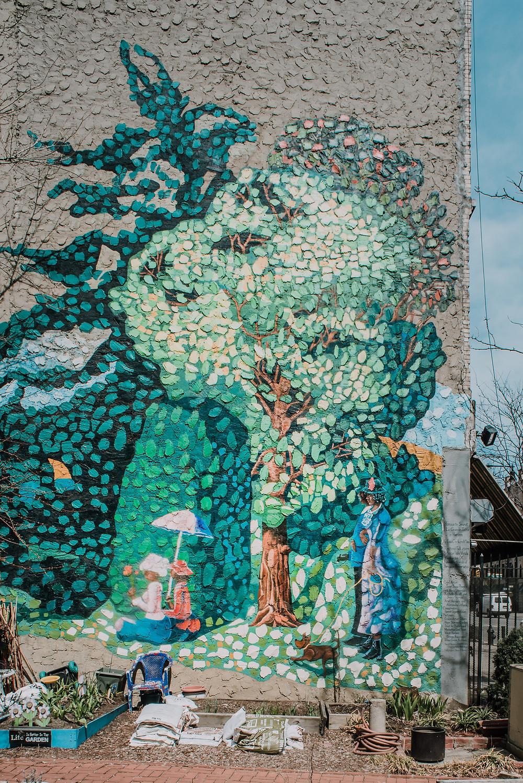 Homage to Seurat - La Grande Jatte in Harlem by Eva Cockcroft (c) Silvie Bonne