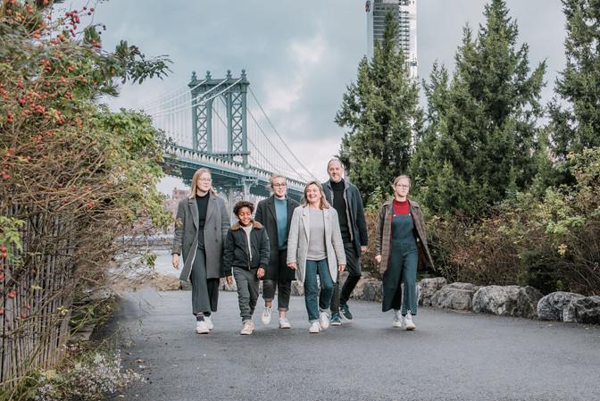 Familie-foto-wandeling in Dumbo
