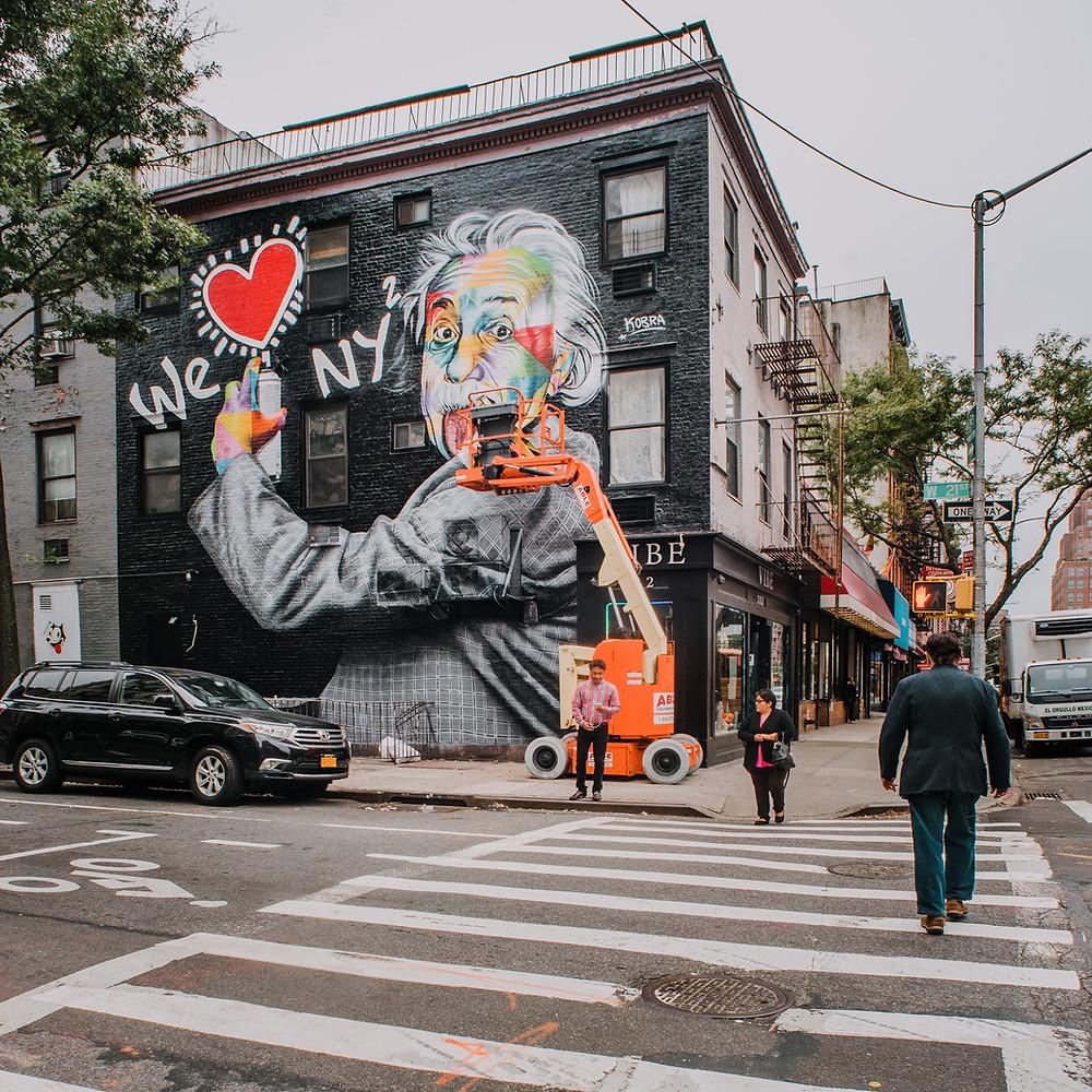 NYC with Teens - Kobra Street Art  (c) Silvie Bonne