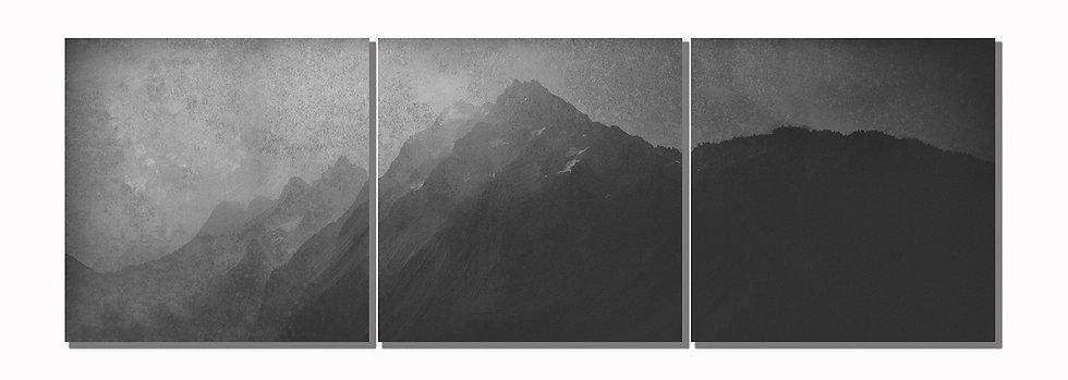 "Mt. Johannesburg 20""x60"" canvas standout triptych"
