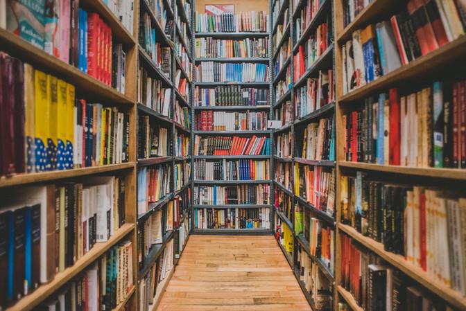 18 miles of books...