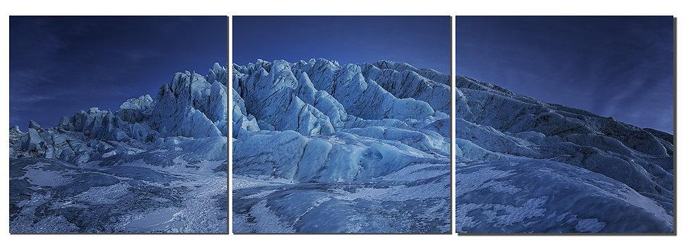 """Coleman glacier 20""""X60""""  Canvas Standout triptych"""