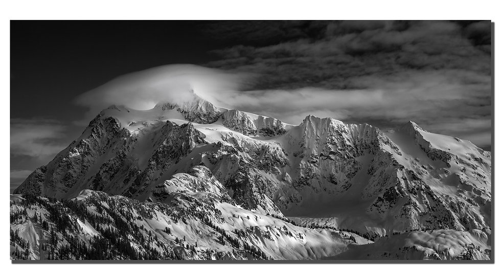 "Mt. Shuksan 12""X24"" Print on Fuji Deep Matte Paper."