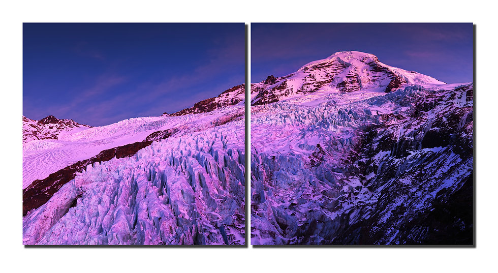 """Mt. Baker Coleman Glacier with alpine glow 20""""X40 Canvas standout"""