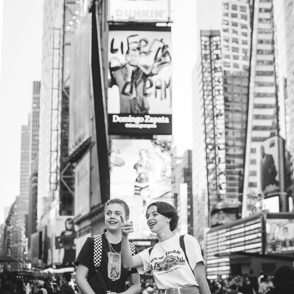 NYC with Teens - Time Square (c) Silvie Bonne