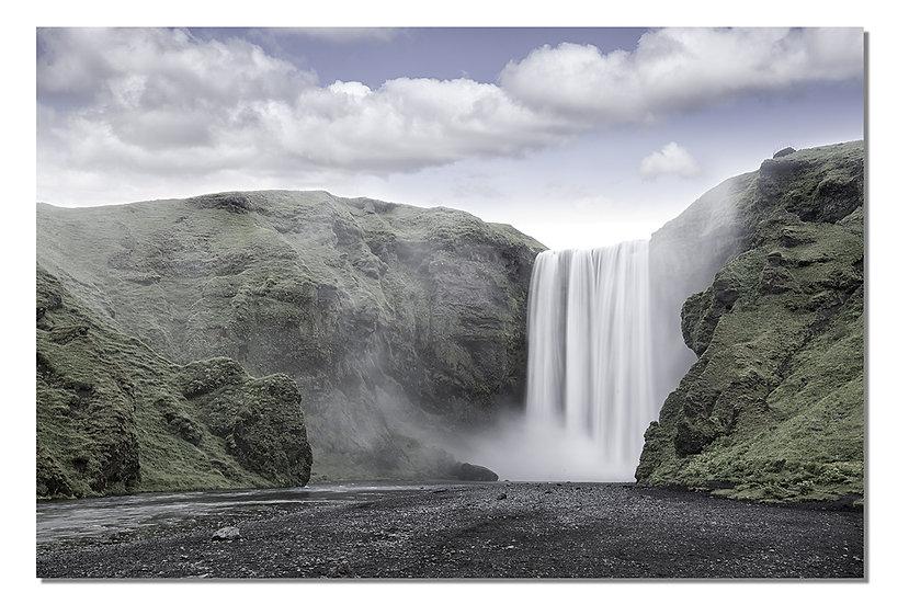 "Skogafoss falls in Iceland 16""X24"" Canvas standout."
