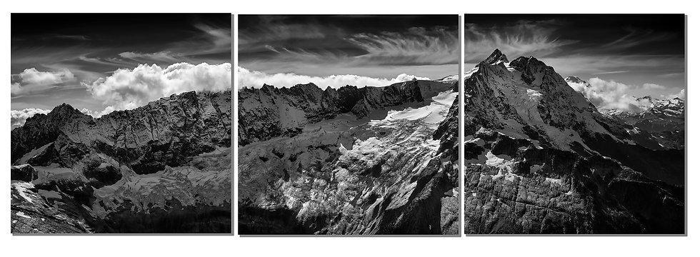 """Mt Shuksan 20""""X60"""" canvas standout triptych"""