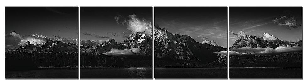 "Grand Tetons 20""X80"" canvas standout on 4 prints."