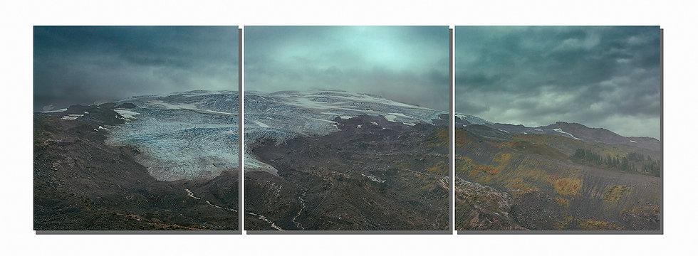 """Mt. Baker Easton Glacier 20""""X60""""  Canvas Standout triptych"""