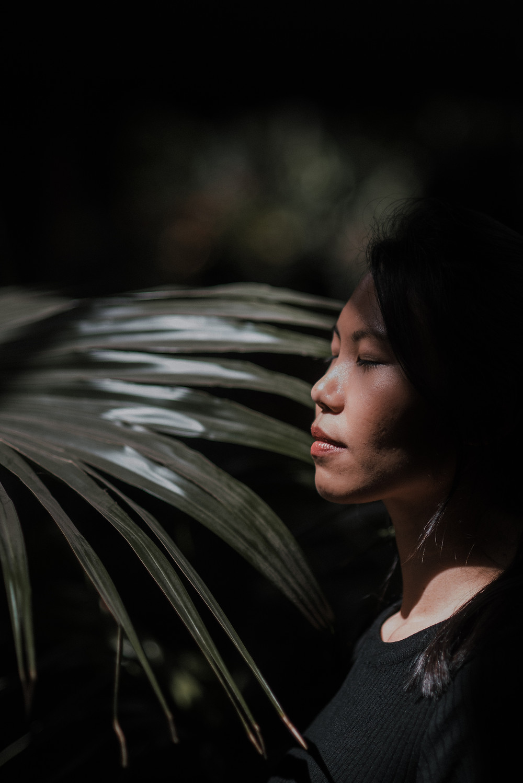 Felicia at the Brooklyn Botanic Garden (c) Silvie Bonne