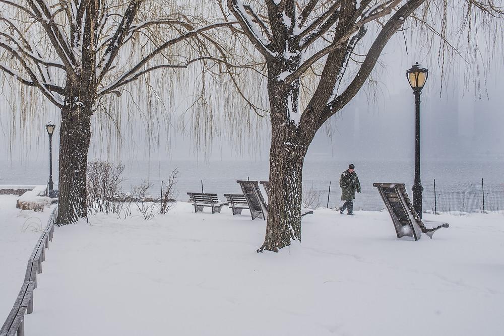 Snow in Long Island City (c) Silvie Bonne