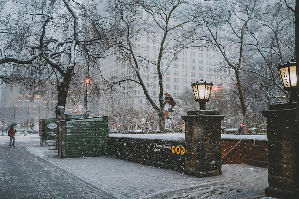 Thundersnow in New York City (c) Silvie Bonne