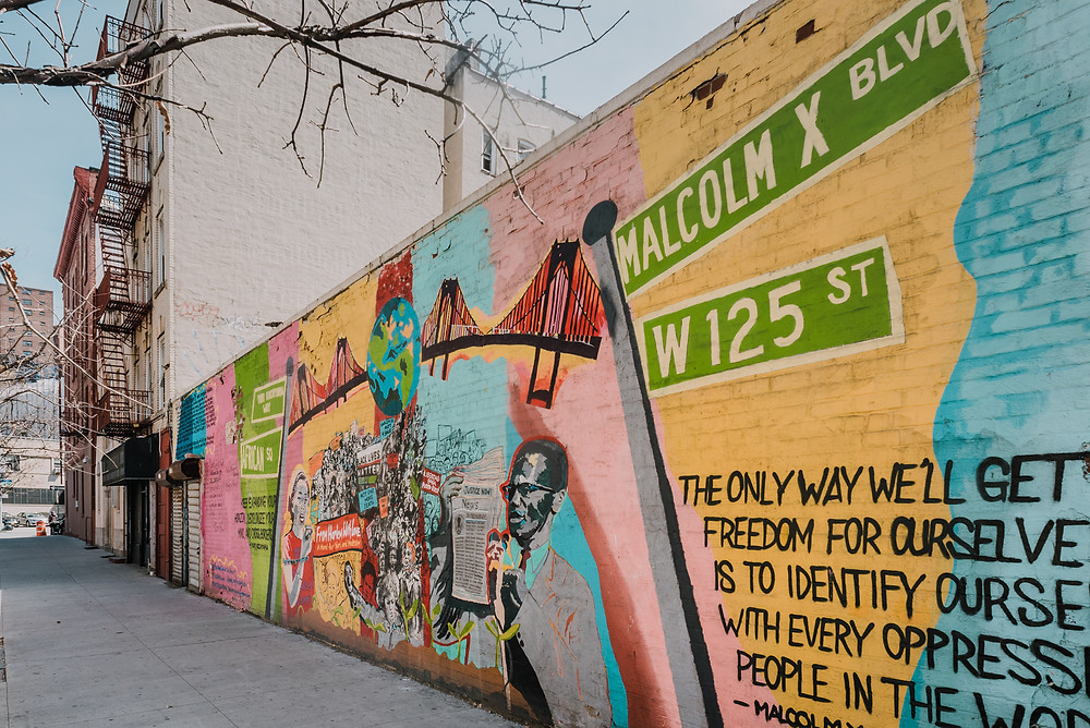 From Harlem with Love - A Mural Project for Yuri & Malcolm by community volunteers  (c) Silvie Bonne
