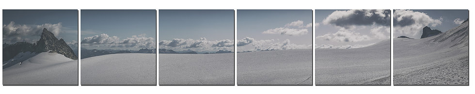"Inspiration Glacier 20""X120"" Canvas standout on 6 prints"
