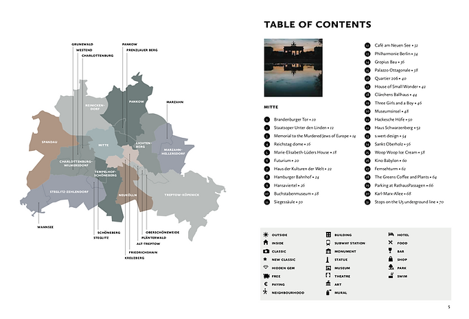 Berlin Guide - Table of Content - part 1