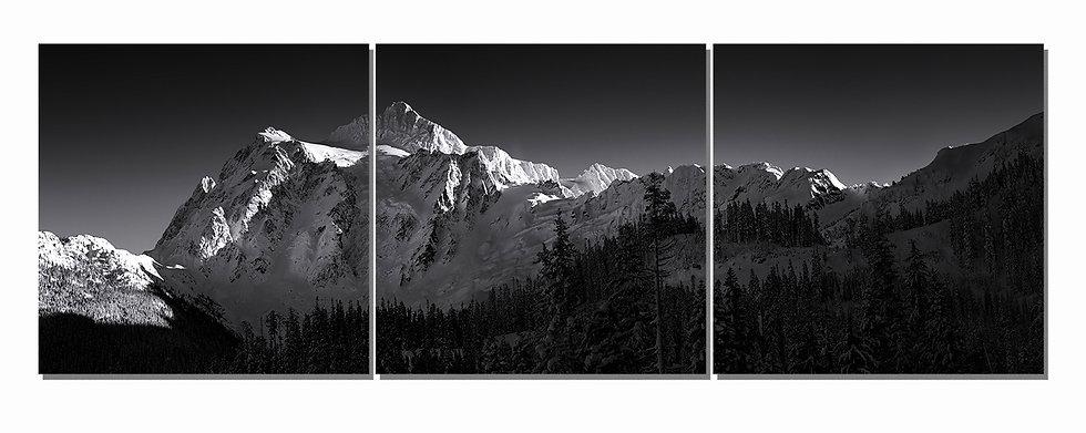 """Mt. Shuksan 20""""x60"""" canvas standout triptych"""