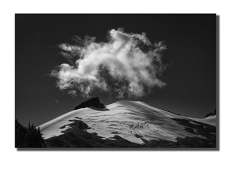 "Mt. Ruth and cloud 12""X18"" Print on Fuji Deep Matte Paper"