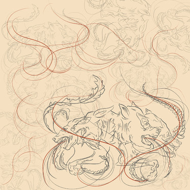 'Wolves'. Digital Illustration