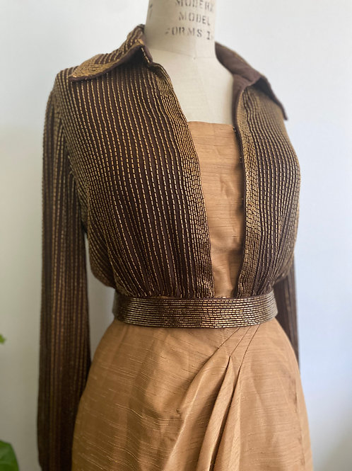 Vintage 1970's Beaded Dress